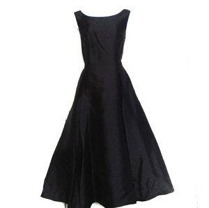 Black A Line Dress With Pockets Midnight Velvet 16